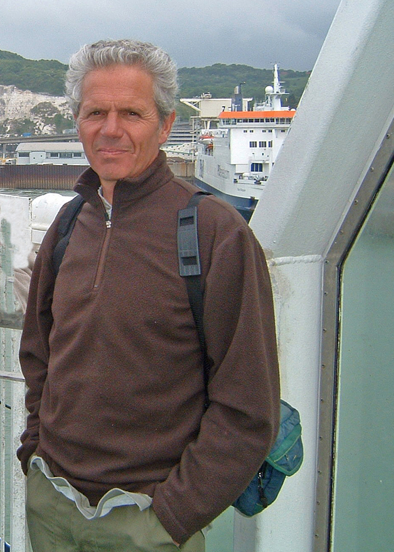 On the ferry to France in 2007